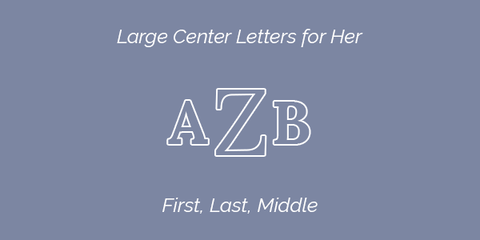 Large Center Letters for Her Embroidery Guidelines