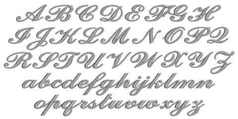 Ornates 2005 Embroidery Font