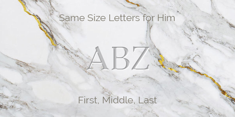 Same Size Letters for Him Monogram Guidelines
