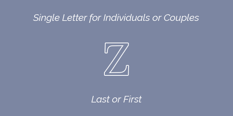 Single Letter for Individuals or Couples Embroidery Guidelines
