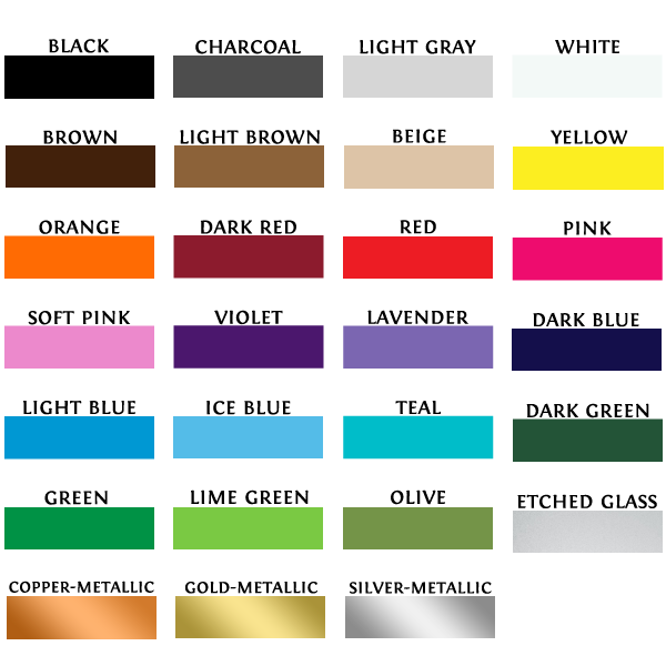 Vinyl Colors Guide