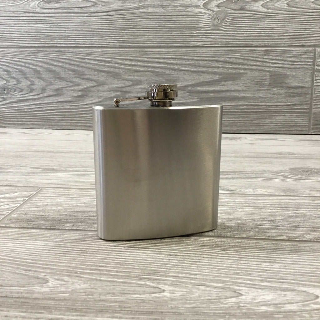 Flasks, Stainless Steel Silver with Funnel, 3 Sizes