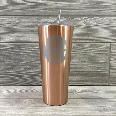 Corkcicle, 24oz Tumbler with Stainless Steel Straw, Copper