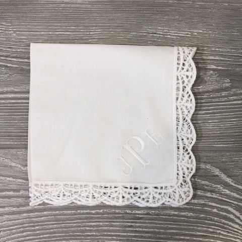 Women's Handkerchief With Lace Detailed Trim