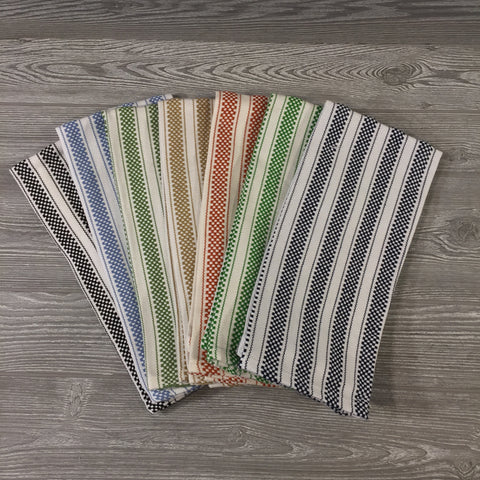 Home Decor, Set of 2 Striped Dish Towels, 5 Colors