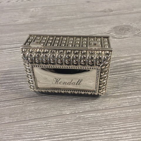 Decorative, Beaded Silver Box