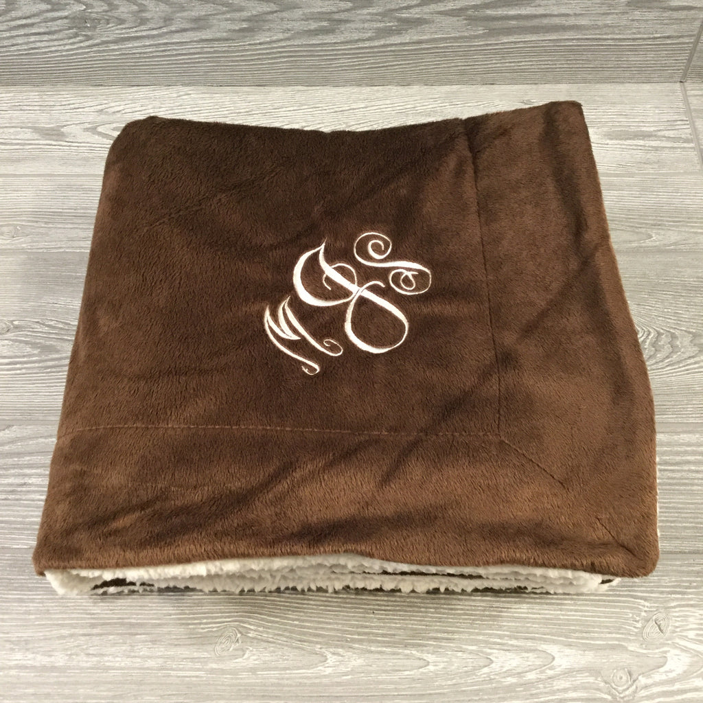 Blanket, Microfleece Throw with Sherpa Lining, 5 Colors