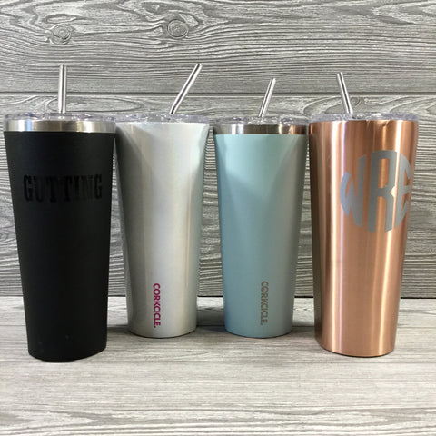 Corkcicle, 24oz Tumbler with Stainless Steel Straw, Unicorn