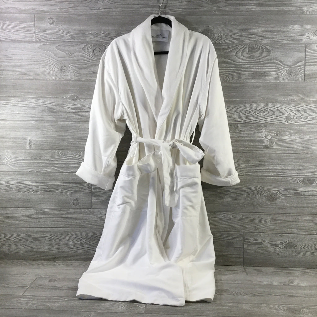 Robe, Luxury Spa Style, Microfiber with Terry Cotton Lining, White