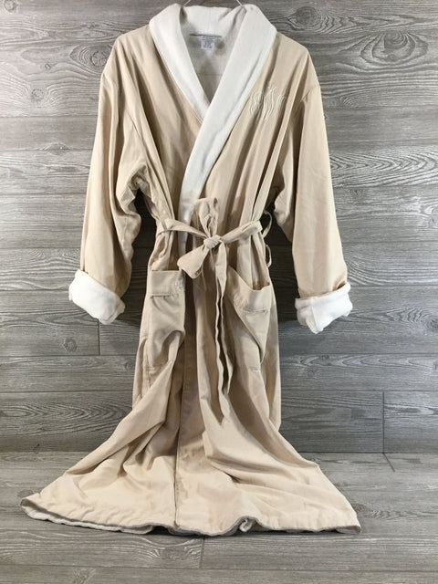 Robe, Luxury Spa Style, Microfiber with Terry Cotton Lining, Eggshell