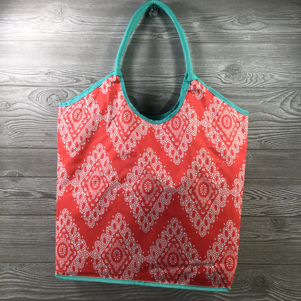 Pool/Beach Bag, Coral & Aqua