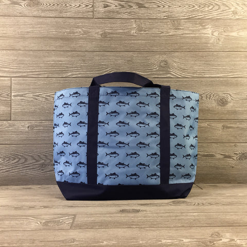 Fish Pattern Pool/Beach Tote