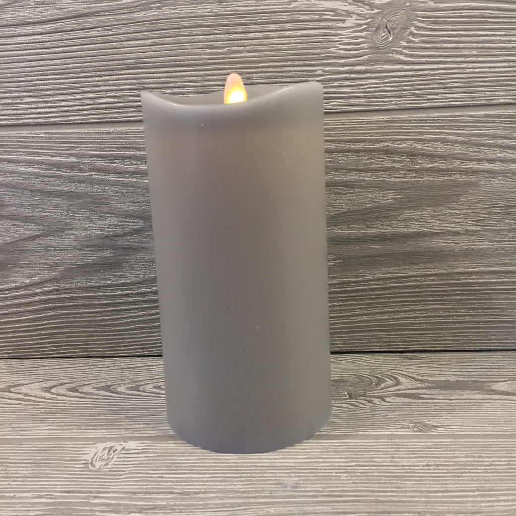 Home Decor, Flameless Candle, Gray Wax, Remote, Large