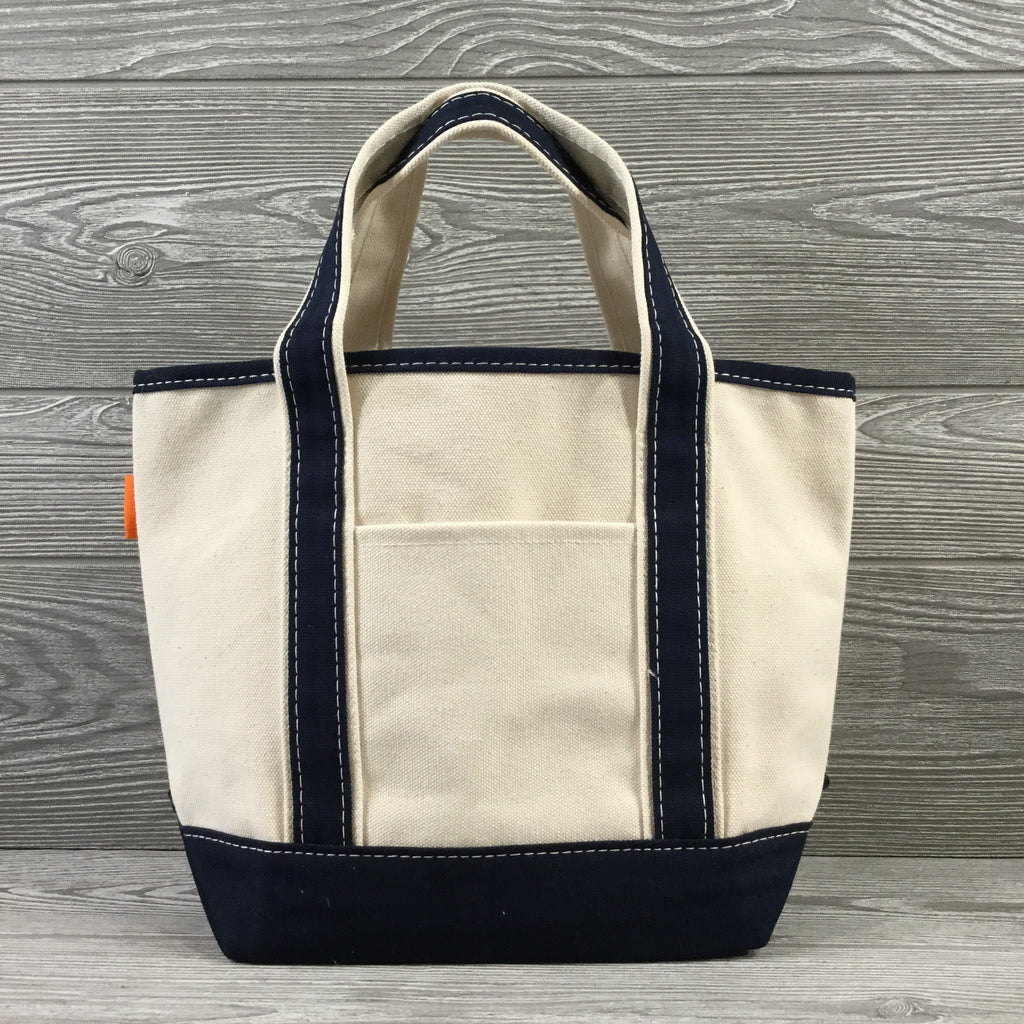 Boat Tote, Small Size Canvas Top, 2 Trim Colors