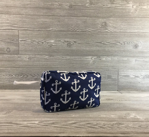 Pool/beach accessory Bag, Blue and White Anchor Pattern