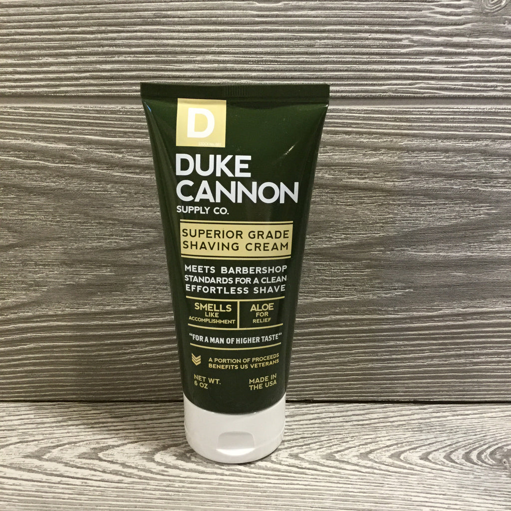 Duke Cannon, Superior Grade Shaving Cream