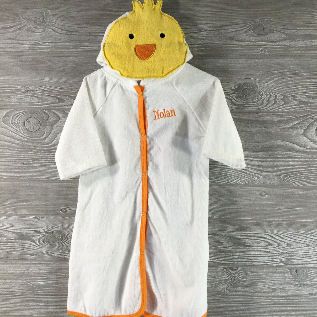 Kids and Babies, Hooded Chicken Terry Robe with Snap Closure