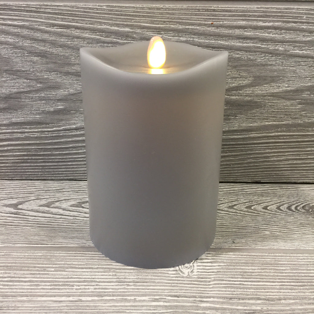 Home Decor, Flameless Candle, Gray Wax, Small, Remote