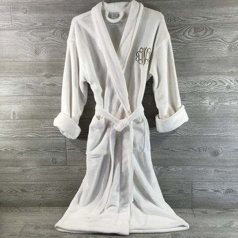 Robe, Soft White Fleece Style, Polyester Blend
