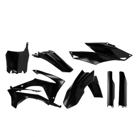 FULL PLASTIC KITS HONDA CRF250 14-17 + CRF450 13-16 - BLACK