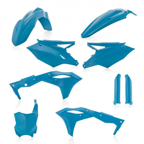 FULL KIT PLASTIC KAWASAKI KXF 250 2017/2020 - LIGHT BLUE