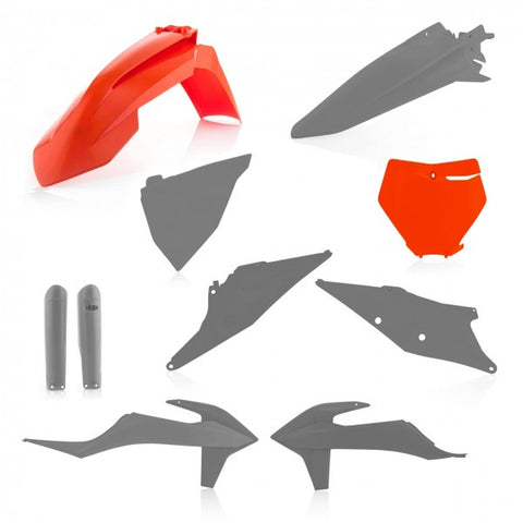 FULL KIT PLASTIC KTM SX/SXF 19-20 - ORANGE/GREY