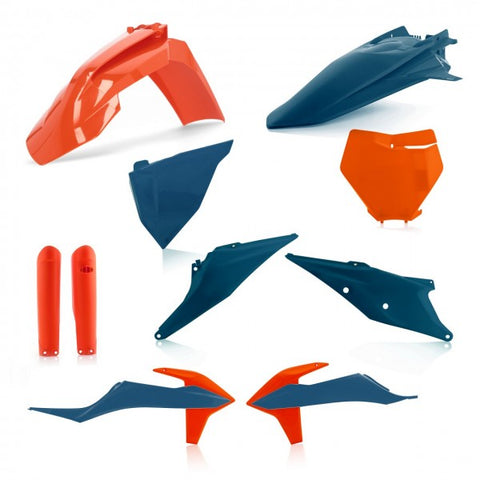FULL KIT PLASTIC KTM SX/SFX 2019-2021 - ORANGE/BLUE