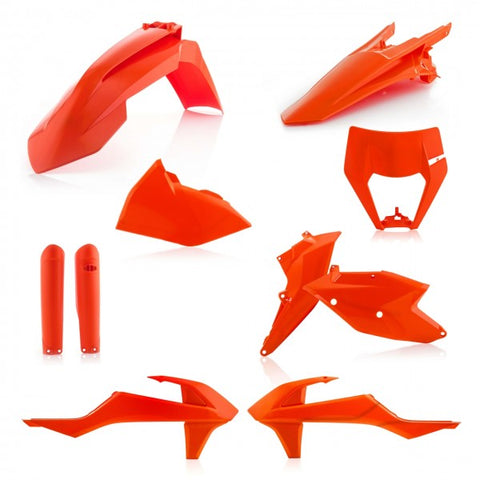 FULL KITS PLASTICS KTM EXC 17/19 incl. HEADLIGHT CAP - ORANGE