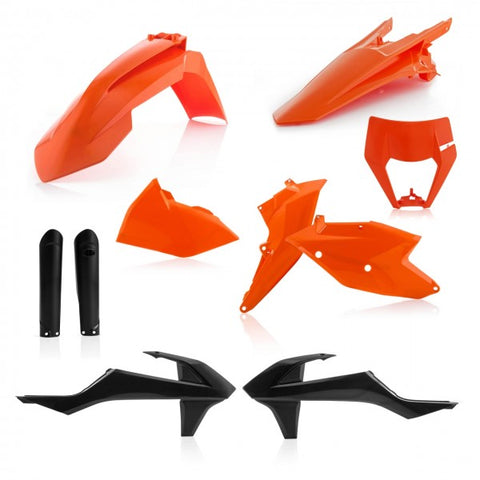 FULL KITS PLASTICS KTM EXC 17/19 incl. HEADLIGHT CAP - STANDARD 19
