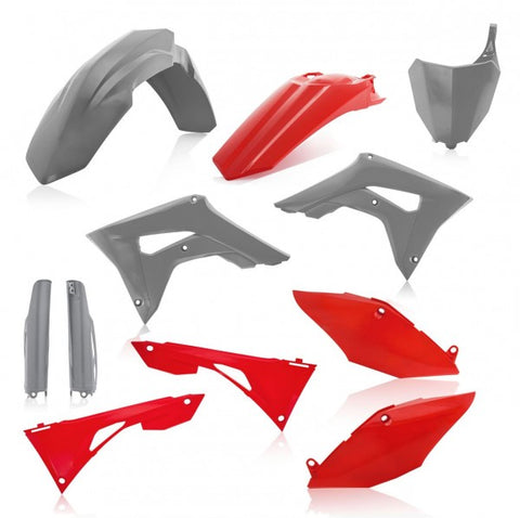 FULL KIT PLASTIC HONDA CRF450 + CRF250 19-20 7 pieces - GREY/RED