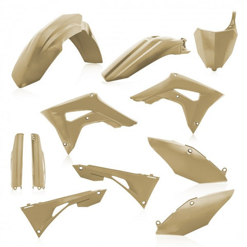 FULL KIT PLASTIC HONDA CRF450 + CRF250 19-20 7 pieces - SAND