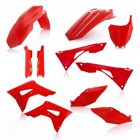 FULL KIT PLASTIC HONDA CRF450 + CRF250 19-20 7 pieces - RED