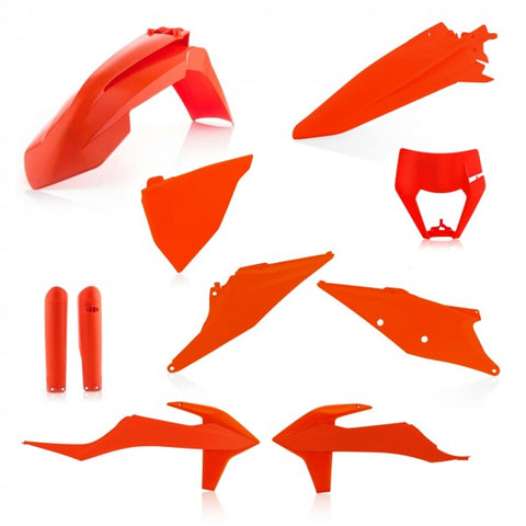 FULL KIT PLASTICS KTM EXC-F 2020 - ORANGE