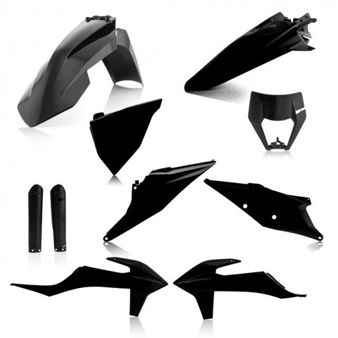 FULL KIT PLASTICS KTM EXC-F 2020 - BLACK