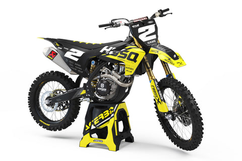 FULL GRAPHICS KIT FOR HUSQVARNA ''BASED MATT'' DESIGN