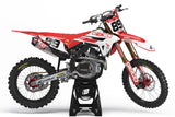 HONDA GRAPHICS KIT ''FLAGED RED'' DESIGN