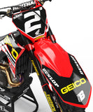 HONDA NUMBER PLATES KIT ''FACTORY S2'' DESIGN