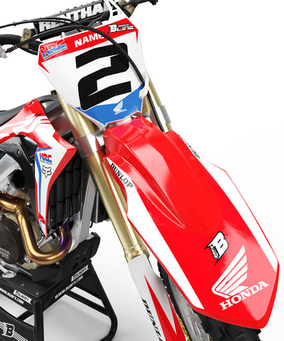 HONDA NUMBER PLATES KIT ''HRC BASIC'' DESIGN