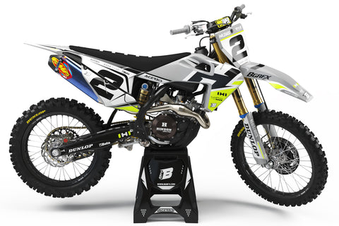 FULL GRAPHICS KIT FOR HUSQVARNA ''DEFENDER FLUO'' DESIGN