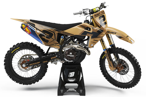 FULL GRAPHICS KIT FOR HUSQVARNA ''DEFENDER SAND'' DESIGN