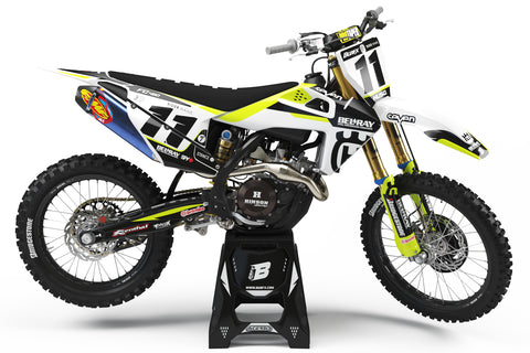 FULL GRAPHICS KIT FOR HUSQVARNA ''ICE FLO'' DESIGN