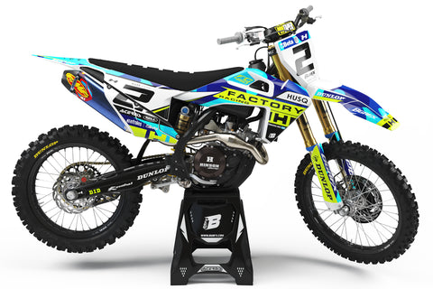 FULL GRAPHICS KIT FOR HUSQVARNA ''SHADES FLUO'' DESIGN