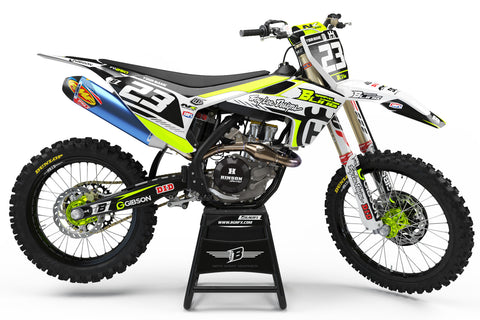 FULL GRAPHICS KIT FOR HUSQVARNA ''LIGHT BRIGHT FLUO'' DESIGN