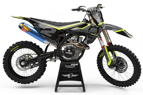 FULL GRAPHICS KIT FOR HUSQVARNA ''FLUO SHADOW'' DESIGN