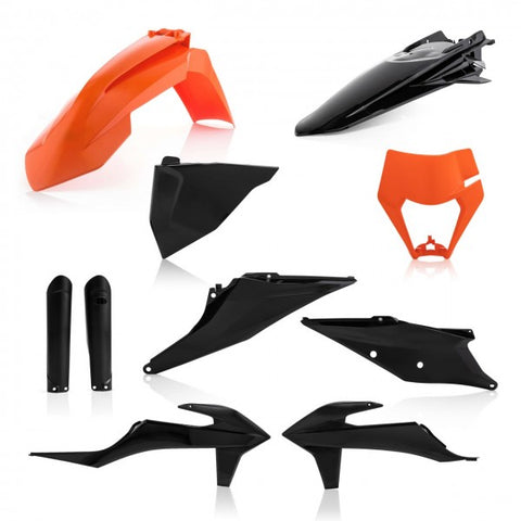 FULL KIT PLASTICS KTM EXC-F 2020 - ORANGE/BLACK