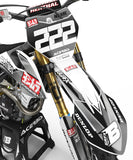 FULL GRAPHICS KIT FOR KTM ''SCREECH WHITE'' DESIGN