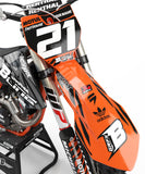 FULL GRAPHICS KIT FOR KTM ''ZEBRA'' DESIGN