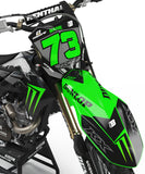 GRAPHICS KIT FOR KAWASAKI ''SHADOW'' DESIGN