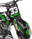 KAWASAKI NUMBER PLATES KIT ''VORTEX'' DESIGN