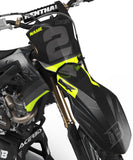 FLUO GRAPHICS KIT FOR KAWASAKI ''WAVE FLUO YELLOW'' DESIGN